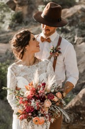 Gorgeously Detailed Styled Elopement at Enchanted Rock, TX _ Kayhla & Blake _ Wandering Weddings